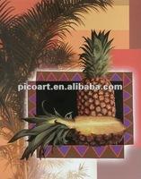 Pineapple design 100% handmade oil painting