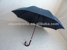 wooden handle blue promotional straight,stick umbrella,cheap advertising umbrella