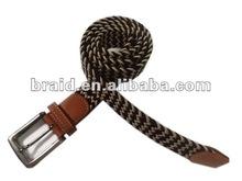 Fashion stylish braided eyelet belt