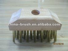 floor brush/wooden handle steel wire brushSC-6419B