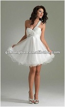 Best service one strap beading dress bust beading,graceful sexy short coctail dress 2012 HB1276#