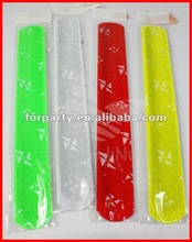 CG-BR042 Wide PVC slap bracelet glow in dark