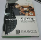 PG-IP090 for ipad 2 bluetooth keyboard with telephone iPEGA for ipad holder