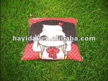 plush animals or girl printed pillow
