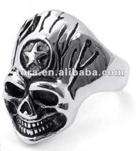 2014 fashion antique alloy skull mens finger rings