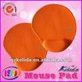 led laranja mouse pad com um único logotipo daimpressão silk sreen