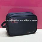 black polyester cosmetic bag micro fiber