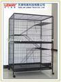 Centimetri 94x57x140 verniciatura a polvere le case del gatto/gabbia con scala e due porte