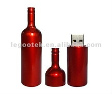 Wine bottle shape Plastic USB flash drive / Gift for express / CE Rohs FCC approved
