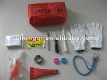 CE/FDA approved Multi-use Car First Aid Kit (glove, mini tool)