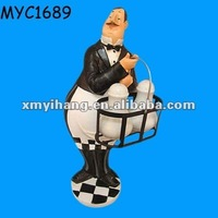 Polyresin life size butler statues