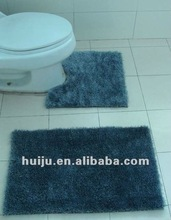 modern design antislip shaggy bathroom 2pcs set carpet