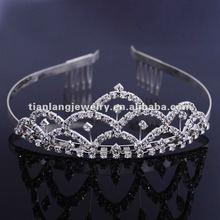 fashion crystal hair tiara wedding diamond crown for bridal