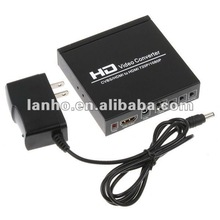 Composite AV CVBS L/R Audio HDMI to HDMI 720P/1080P HD Video Converter