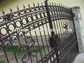 2012 fundición fabricante de puertas de entrada de la puerta del jardín swing puertas puerta de hierro