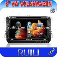 8 inch VW Car GPS Navigation with Radio TV Bluetooth