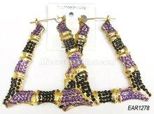 """90mm """"U"""" shape cheap bamboo earrings hoops hot sale in 2012"""