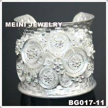 matte silver bangle fashion jewelry