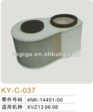 motorcycle filter element