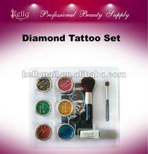 New Arrived Body Diamond Tattoo Set with Tattoo Stencils