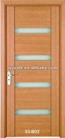 Soundproof Half Glass Wooden Door