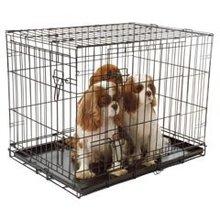 pvc coated folding metal dog cage