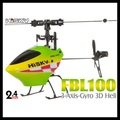 Hisky FBL100 Flybarless Mini 3D 6ch Rc hélicoptère, Rtf avec batterie supplémentaire