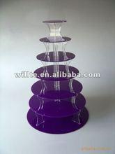 Purple acrylic cake shelf