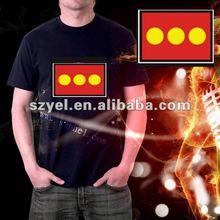 EL t-shirt red sun logo design