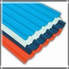 Corrugated galvanized painted steel roofing