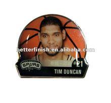NBA Basketball Printed Pins