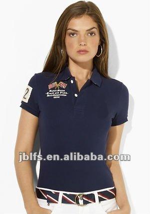 camisa de polo de diseño para mujeres con precio competitivo