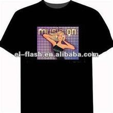 music equalizer flashing el t-shirt