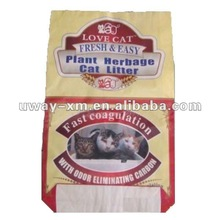 Natural bentonite kitty litter for home rest use/ cat sand