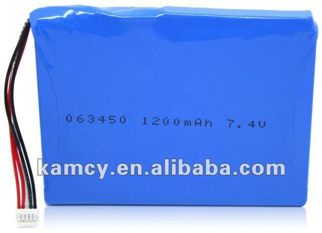 tablet battery 7.4v li-po 1200mAh LP063450