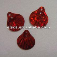 shell shape laser bright sequins paillettes