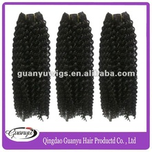 Hot sale Jerry curl virgin Peruvian hair weave