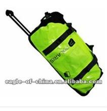green carry on waterproof trolley bag