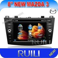 Bluetooth 2 din in dash HD digital touch screen car radio dvd cd player gps for Mazda 3