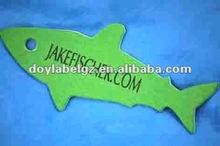 fish shaped paper hang tag