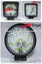 high power 27w led driving light, auto off road led light, led working light for trucks/boat
