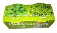 Bio bamboo fiber garden flower pots