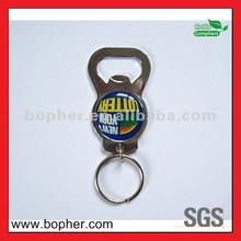 custom cheap metal bottle opener keychain