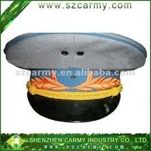 White & Blue Military homburg Headwear,embroideried peak cap/Military Hat