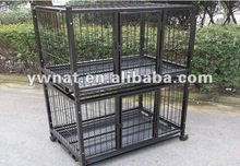 two floors steel dog cage