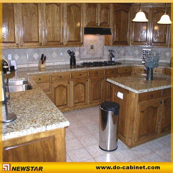 Modular del gabinete de cocina con granito mesas de - Bancos para cocina modernos ...