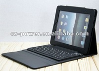 for ipad 3 and 2 wireless keyboard case Bluetooth leather case