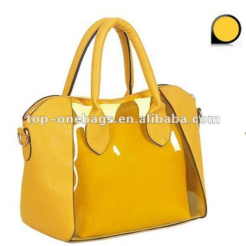 fashion *=* yellow*=* Lady_jelly_pvc_candy