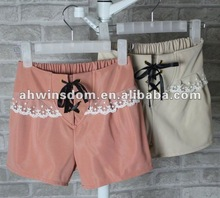 2012 fashion lace shorts for ladies