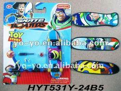 Plastic finger skateboard toy